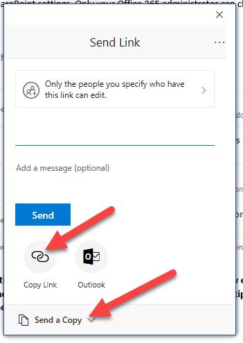 Send File Link